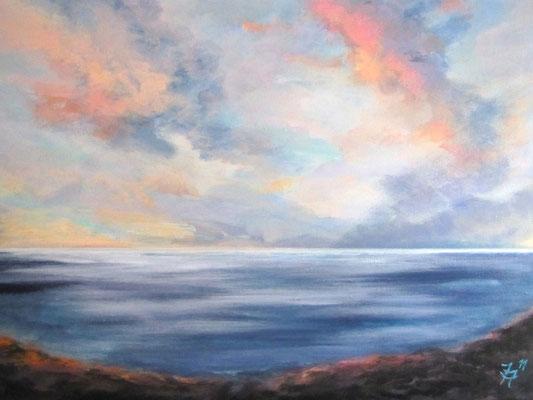 Morgenhimmel in Torrox [Acryllasur] © Ingrid Achsel
