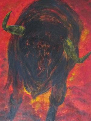 El Toro [Acryl auf Leinwand, 50x60cm] © Ingrid Achsel