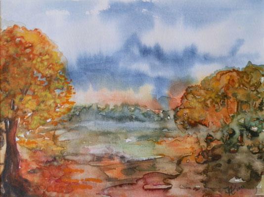 Herbst [Aquarell] © Ingrid Achsel