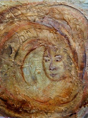 Der ewige Kreis [Acryllasur auf Leinwand] © Ingrid Achsel