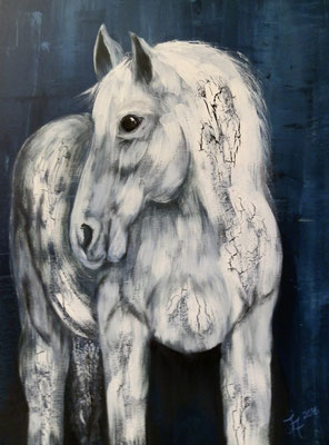 White Star [Acryllasur auf Leinwand, 50x70cm i. Schattenfuge] © Ingrid Achsel