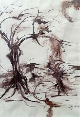 Bäume [Sepia] © Ingrid Achsel