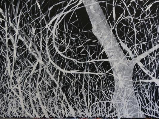 Wintermond [Acryllasur auf Leinwand] © Ingrid Achsel