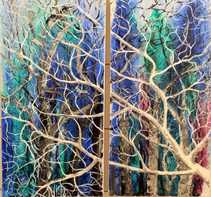 Fenster [Acryllasur auf Leinwand] © Ingrid Achsel