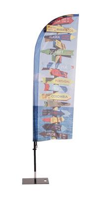 Beachflag Standart mit individuellem Aufdruck erhältlich