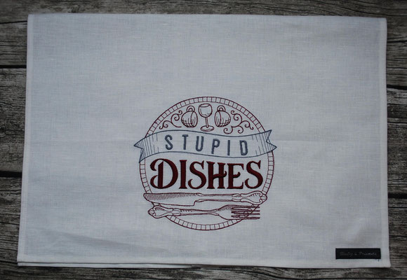 Stupid dishes weinrot grau