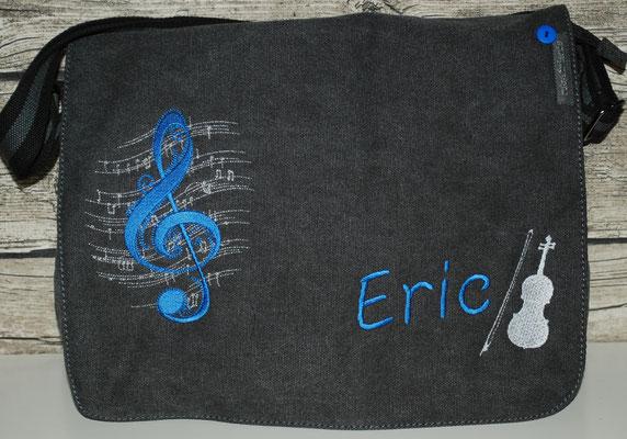 vintage schwarze Tasche mit Geige