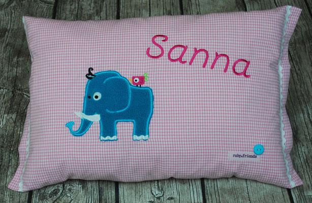 Elefant Vichykaro rosa , Stickdatei Ginihouse 3