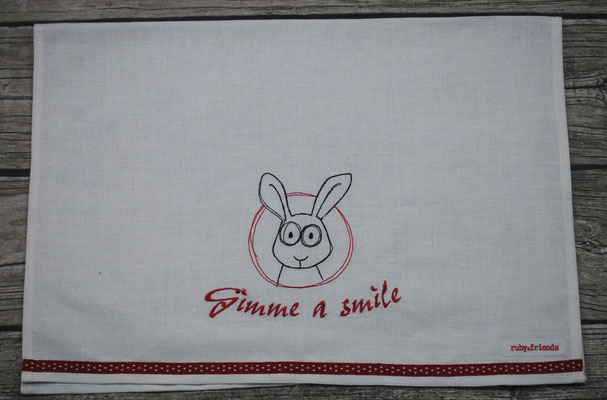 KT50  Gimme a Smile    Hase   Stickdatei  Anja Rieger