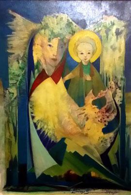 Madonna con bambino - olio su tela - 40X50 - coll. privata