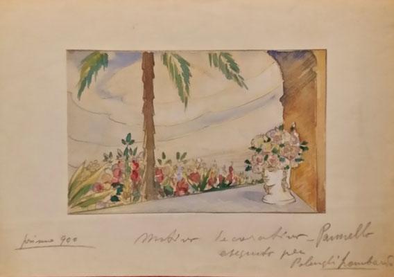 pannello per stand Polenghi Lombardo - bozzetto - 1938