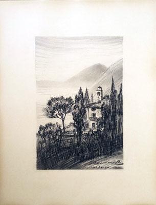 Val Solda, Oria - 1936 - carboncino su carta - 25x30 - proprietà privata