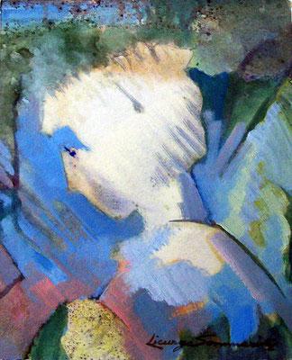 Ritratto di bambina - 1964 - olio su carta