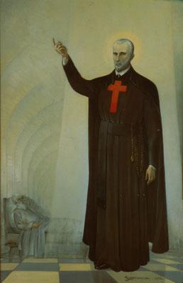 San Camillo tra i malati- Olio su tela -100X150- Chiesa parrocchiale di Valcava