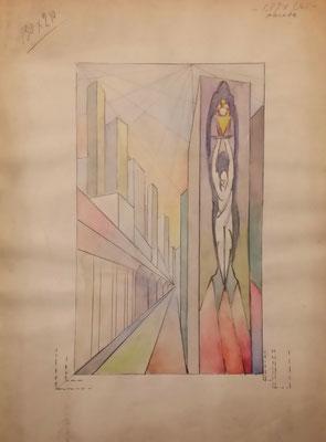 pannello per parete stand Polenghi Lombardo - bozzetto - 1938