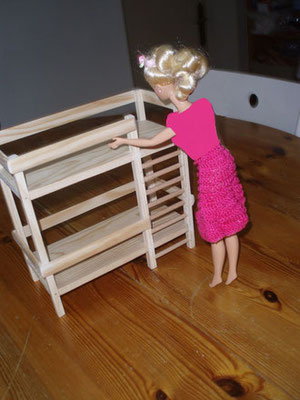 Petits lits superposés pour les enfants - jouet pour Barbie et autres poupées.