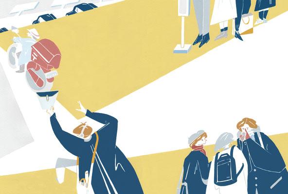 2018. 女性モード社 11月1日発売号 雑誌「PLAN 美容の経営 12月号」表紙・見開き アートディレクション&デザイン:氏デザイン株式会社 JYOSEI MODE  magazine「PLAN 」cover illustration Art direction&design by UJIdesign