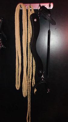 Seile und Hodenpranger