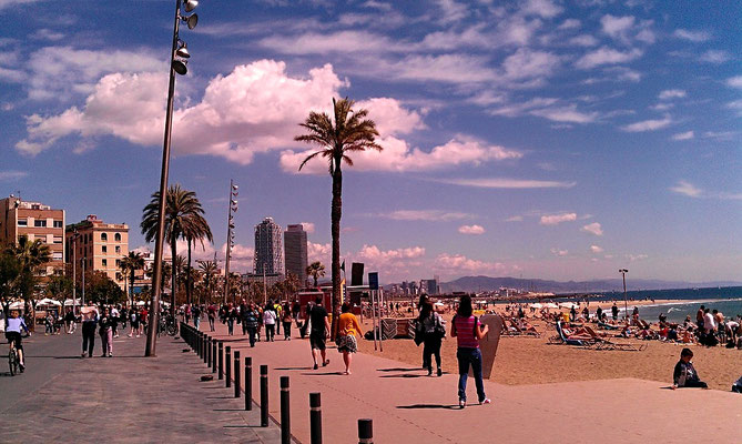 Barcelona Beach, Running Guide, City Guide, Run My City, run to discover, run to explore