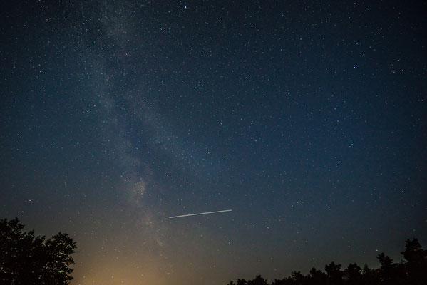 ISS kreuzt Milchstraße - Lüneburger Heide, Undeloh
