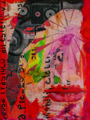 The red temptation 24x30 cm Leinwand (Fototransfer, Mixed Media)