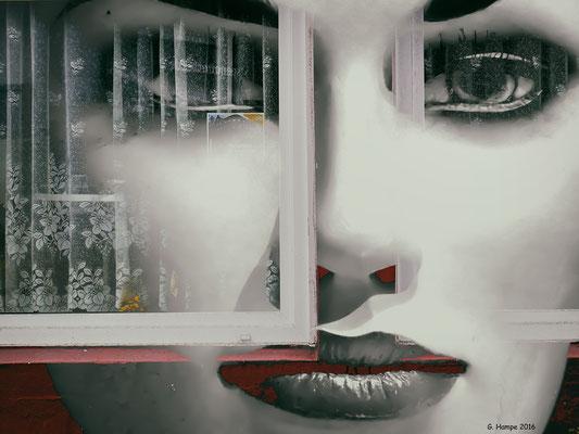 Grey lips and windows
