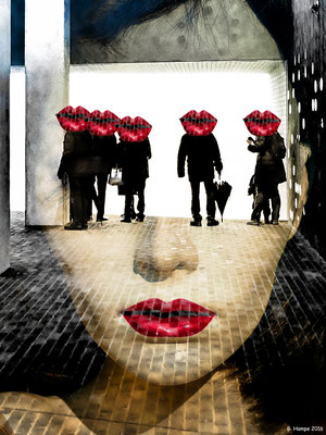 The face, people and red lips at the Elphi