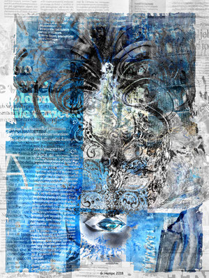 The blue abstract mask