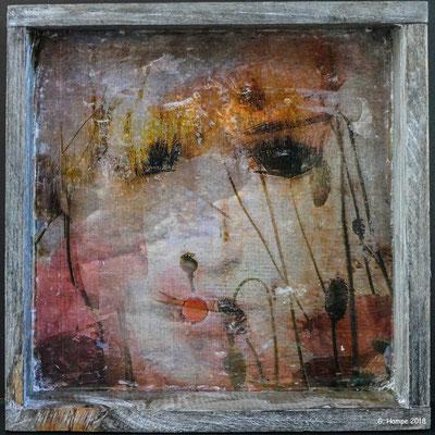 Summer dreams on wood 15 x 15  cm