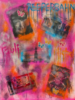 Meeting at St. Pauli - Mixed Media Leinwand 80x100 cm