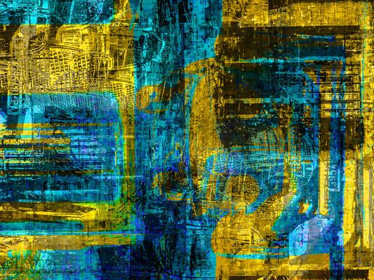 The beginning of the New World Alu-Dibond 80x60 cm ausgestellt in Mein Wohnstudio