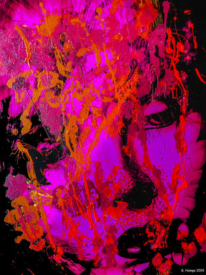 Woman's flower power with colors (exklusiv für popstreet.shop)