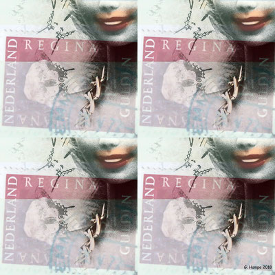 Barbie and the stamp