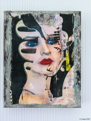 What a beauty 24x30 cm Leinwand (Fototransfer, Mixed Media)