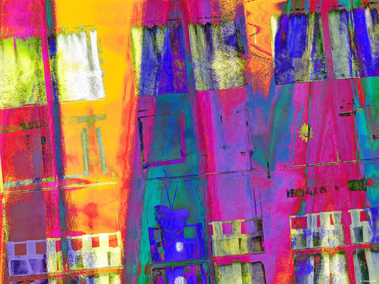 Crazy and colorful windows