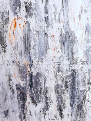 Abstract art in grey 80x100x2 cm Leinwand ausgestellt in Mein Wohnstudio