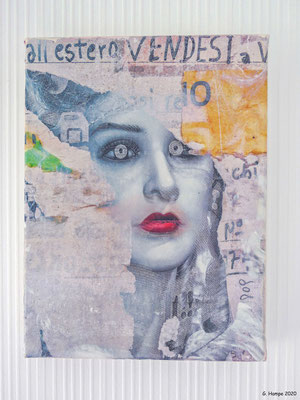 Venetian Beauty 18x24 cm Leinwand (Fototransfer, Mixed Media)
