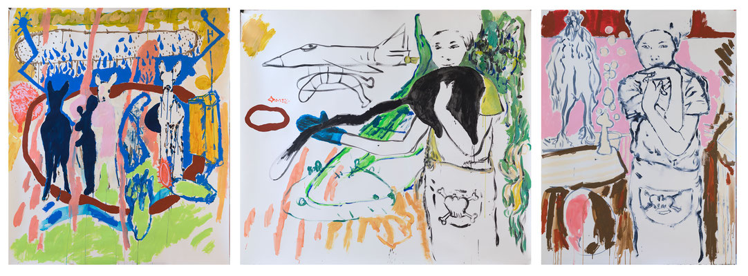 Tryptich: Little cook/ approx. 150x 300cm