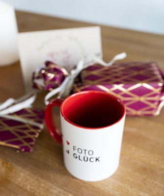 Foto Glück Tasse mit Fotospruch
