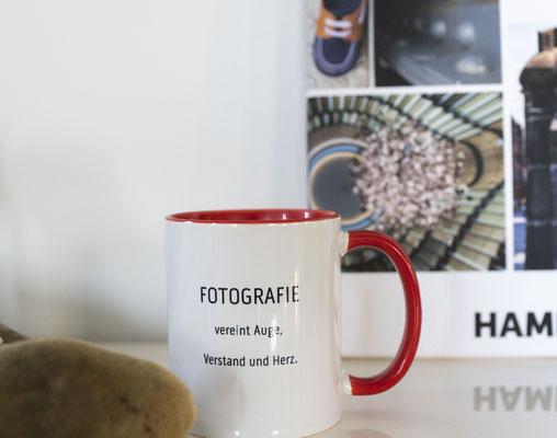 Foto Glück Tasse in rot