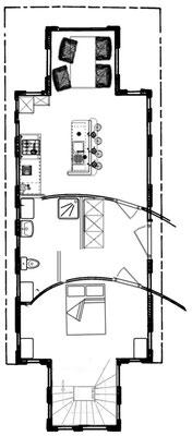 Esquisse du plan intérieur de la structure