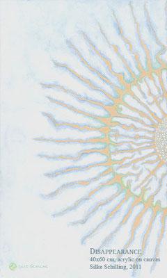 VERSCHWINDEN, 40x60 cm, Acryl auf Leinwand, 2011