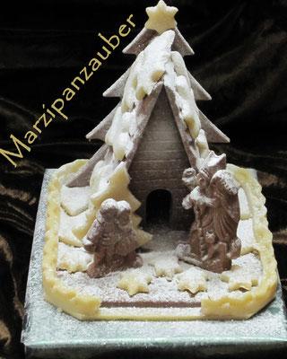 Hexenhaus aus Vollmilchschokolade
