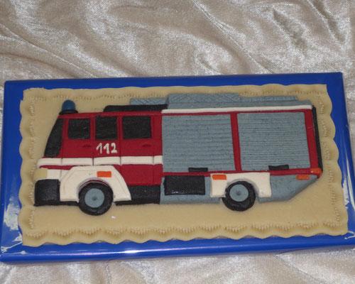 Marzipanauto, Feuerwehr, Relief