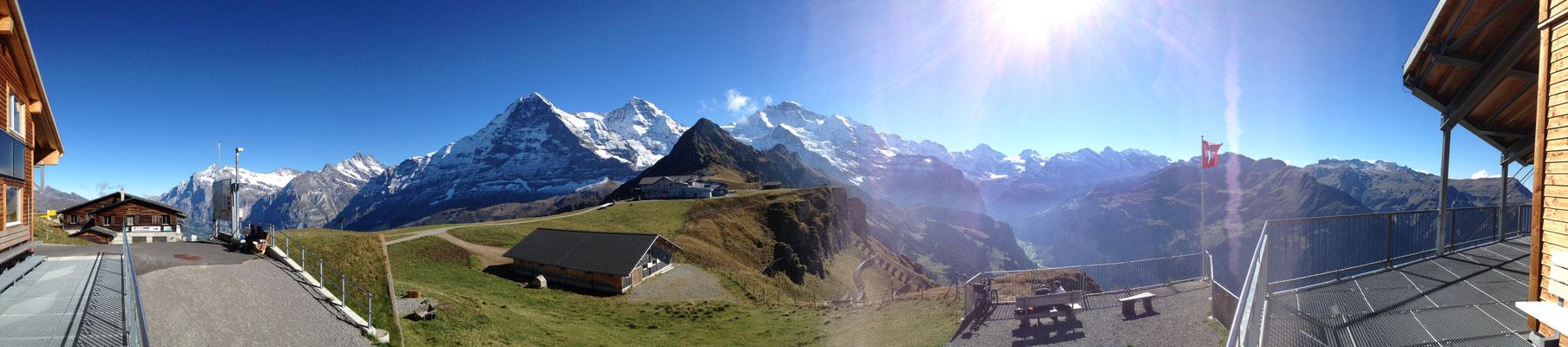 Eiger, Mönch und Jungfau im Panorama