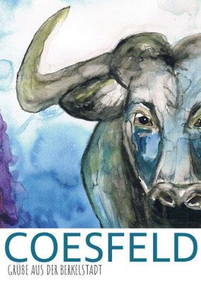 Postkarten mit Neuinterpretation des Coesfelder Stadtwappens – eines von 6 Gewinnermotiven - gedruckt von der Druckerei Satzdruck aus Coesfeld