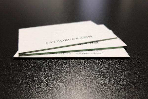 Mehrlagige Letterpress Visitenkarten von Satzdruck – Druckerei im Münsterland (NRW)
