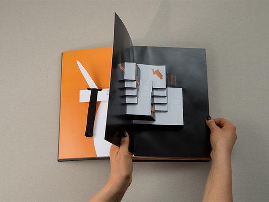 """Einblicke in die Masterarbeit """"Blood Orange"""" - digital gedruckt und gelagert von SATZDRUCK"""