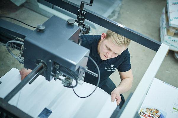 Live dabei - beim Offsetdruck in der Druckerei Satzdruck in Coesfeld im Münsterland