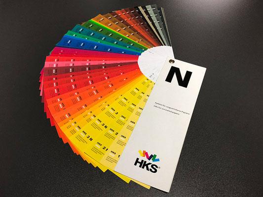 HKS N Farben für den Einsatz mit Natur- und ungestrichenen Papieren